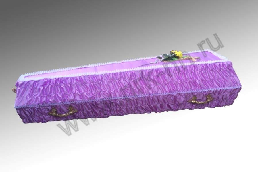 Гроб атласный гофре