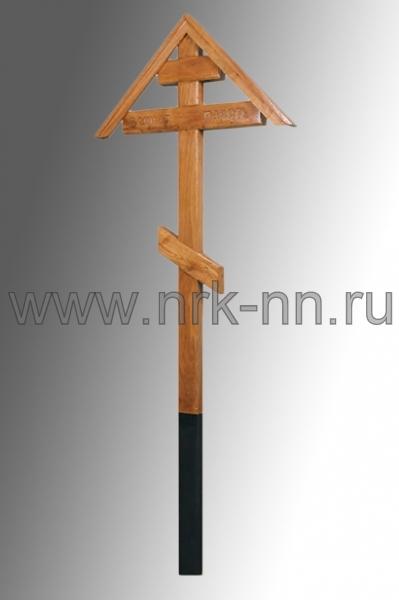 Крест дубовый домиком